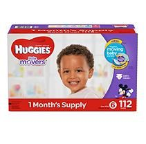 Huggies Little Movers Diapers, Size 6 (Over 35 lb.) - 112 ct.