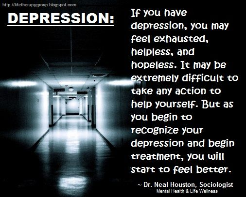 DEPRESSION ~ Dr. Neal Houston, Sociologist (Behavior Modification Specialist) Education - Awareness / Mental Health - Life Wellness - ✔ Share ✔ Like ✔ Tag ✔ Comment✔ - Please feel free to share this post with anyone who is looking for a little direction in life.  www.facebook.com/TheLifeTherapyGroup