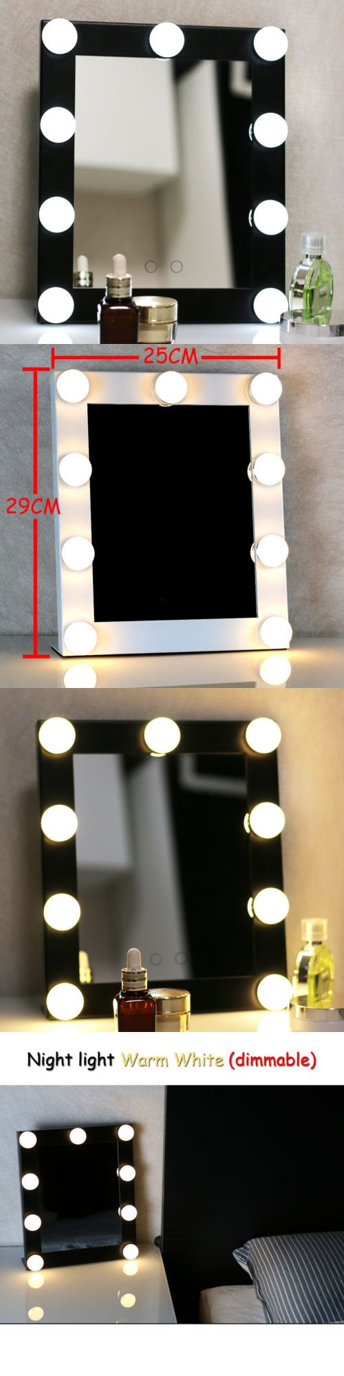 Makeup Mirrors: New Black Vanity Lighted Hollywood Makeup Mirror With Dimmer Stage Beauty Mirror BUY IT NOW ONLY: $79.99