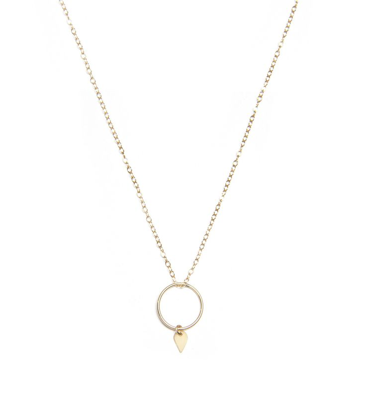 PetiteGrand Circle with Teardrop Necklace $150