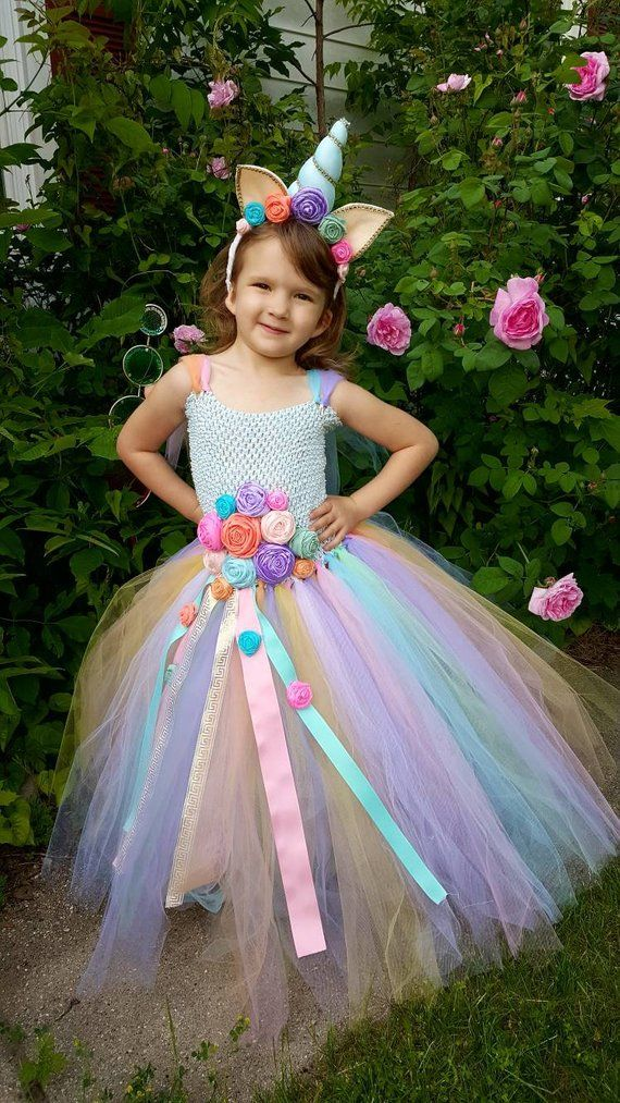 46c41db2 Unicorn dress - Unicorn Birthday - Unicorn horn - Halloween Costume -  Cosplay Costume - Rainbow Unic