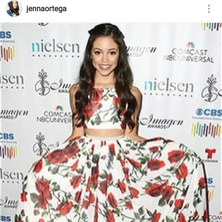 Disney Star Jenna Ortega wearing Alora Safari on the red carpet.