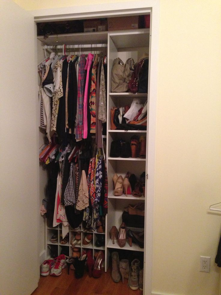 Organization for a small closet in an apartment closet for Storage solutions for small closets