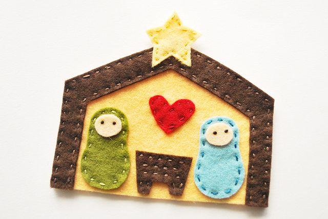 Nativity Ornament by wildolive, via Flickr