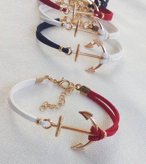 Hey, I found this really awesome Etsy listing at https://www.etsy.com/listing/544099893/anchor-bracelet-charm-bracelet-nautical
