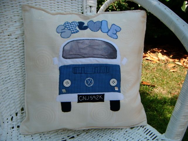 personalised custom cushions for your van or home,