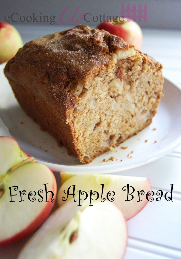 Fresh Apple Bread - Have you been looking for a great fall bread recipe? Well look no further. I have the perfect recipe for you, Fresh Apple Bread.  This is an easy recipe that only requires 3-4 apples. I love how this bread fills my house with a wonderful cinnamon scent.