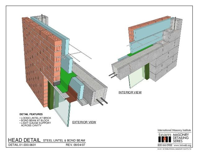 Masonry Detailing Series V 3 4 In 2020 Masonry Construction Drawings Architecture Details