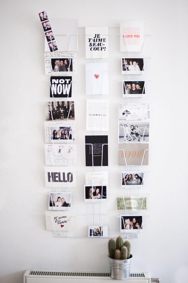 Postkartenhalter für den Flur. Erinnerungen und Botschaften von Freunden und der Familie >> i want!