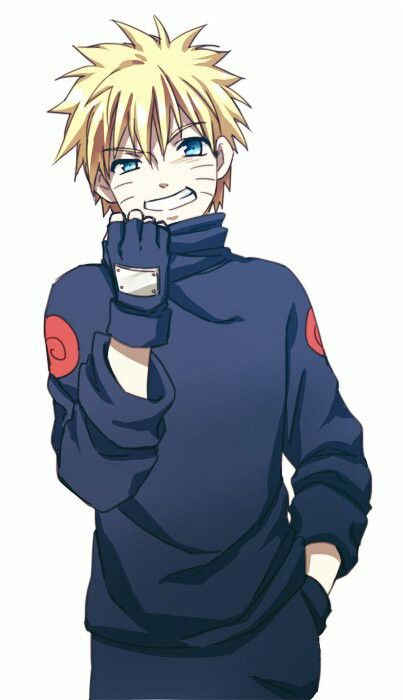 Naruto vestido de Sasuke
