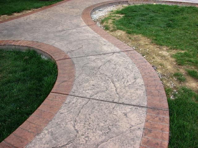 Seamless Old Granite Stamped Walkway Stamped Concrete