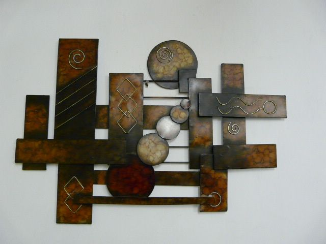Metal Wall Art Decor Abstract : Modern outdoor metal wall art contemporary