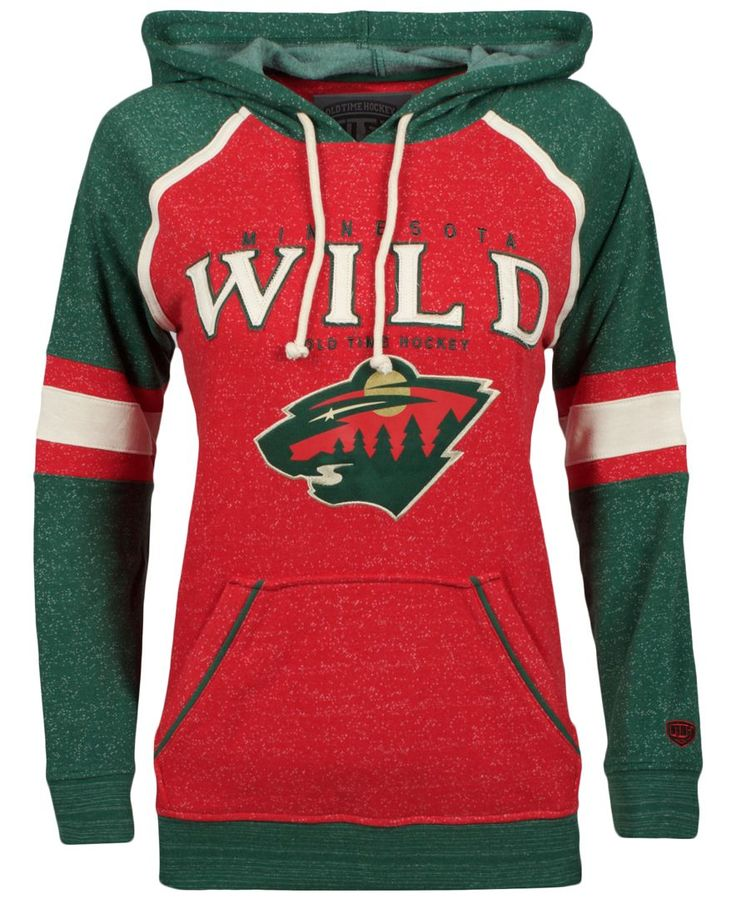 Old Time Hockey Women's Minnesota Wild Vernier Hoodie