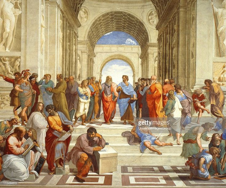 The School of Athens' , 1511 (detail). Fresco. Raphael