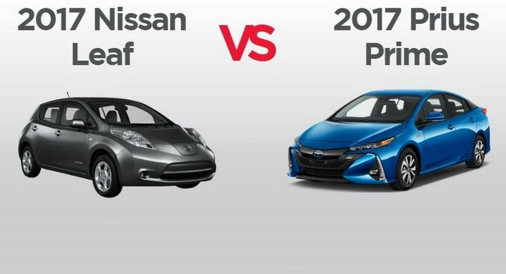 Nissan Leaf and Toyota Prius Prime go head to head in comparison part.