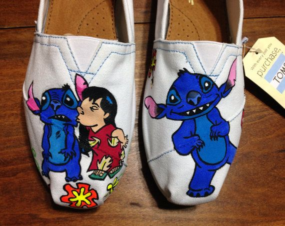 Disney TOMS tops  Ohana with Lilo and Stitch by Memesterchic, $90.00
