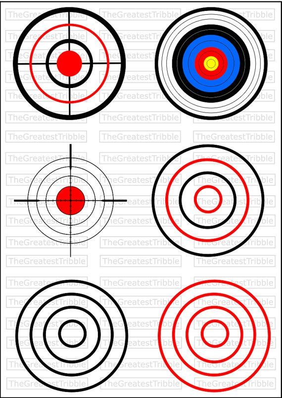 Bulls Eye Shooting Target SVG PNG JPG Vector Graphic Collection