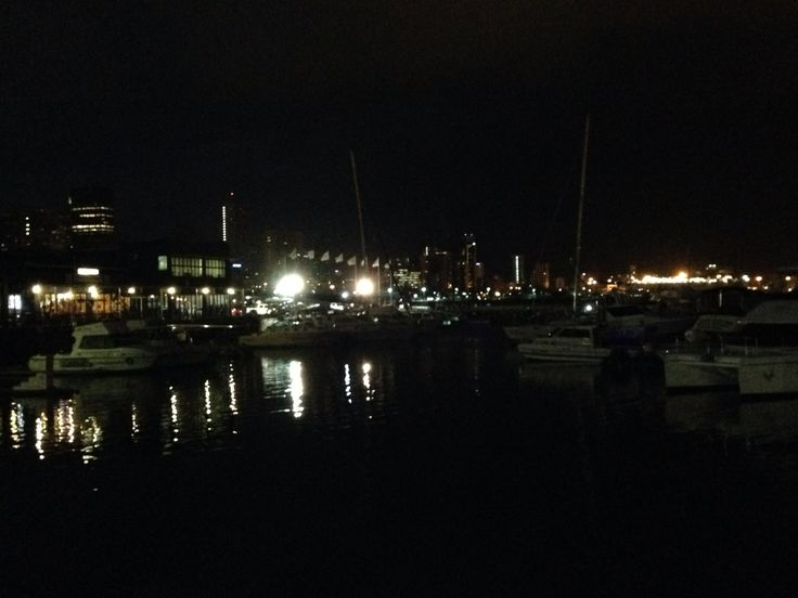 The Durban Harbor at night ...