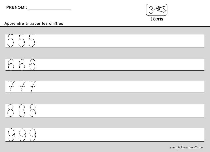 Apprendre à tracer des chiffres en maternelle