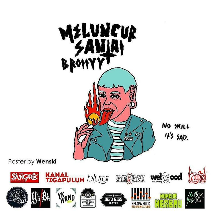 Otakotor records x kumpul kerbau present ; MELUNCUR SANTAI BROIIYY  venue: @saunggarlic_resto 24 agustus 2017 Start 7pm - 11pm  Band : 1. The clays (medan) 2. The Ring 3. Sudden supper 4. Kavvah 5. The Godspeed  Ticket just 10K  #infojogja #jogjapunyaacara #infoacarajogja #infogigsjogja #jogjagigs #mediajogja #instajogja - #localgigs #saunggarlicresto