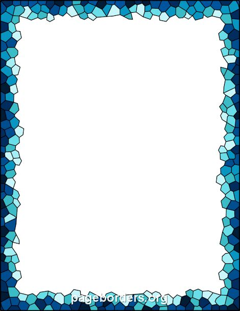 free mosaic border description blue mosaic border  the border is sized to work with 8 5 x 11