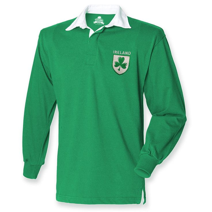 Ireland Rugby Shirt Fans Jersey Shamrock Logo Mens 6 Nations Irish RETRO TR3