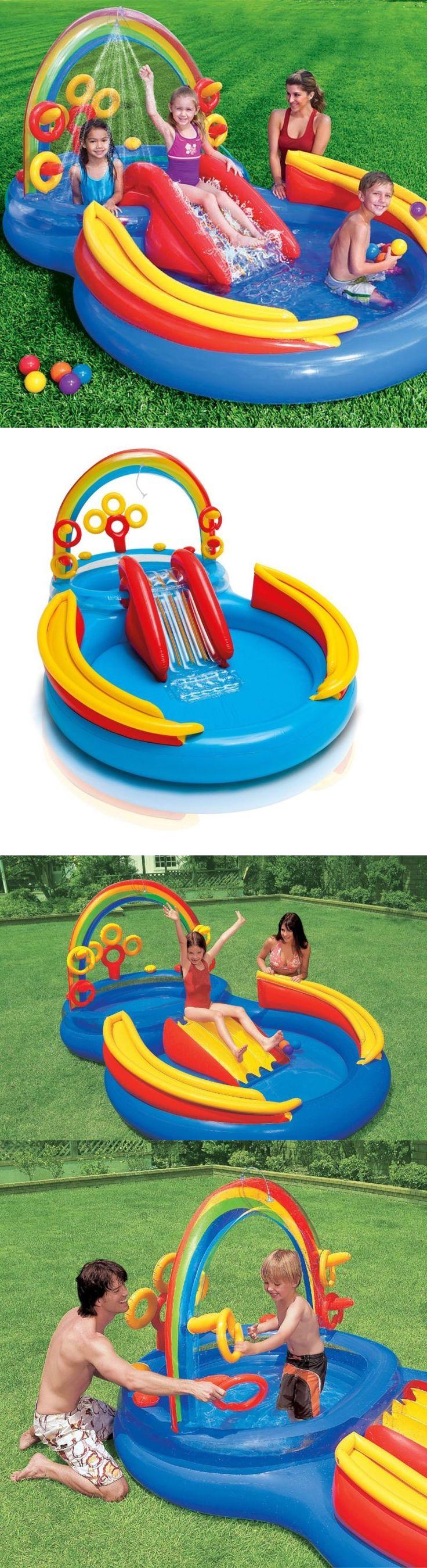 Pools 145989: Usa Backyard Inflatable Water Slide Pool Kids Outdoor Splash Bounce Play House N -> BUY IT NOW ONLY: $58.42 on eBay!