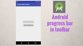 In this tutorial you will learn how to use android progress bar and how to add android progressbar in android toolbar.