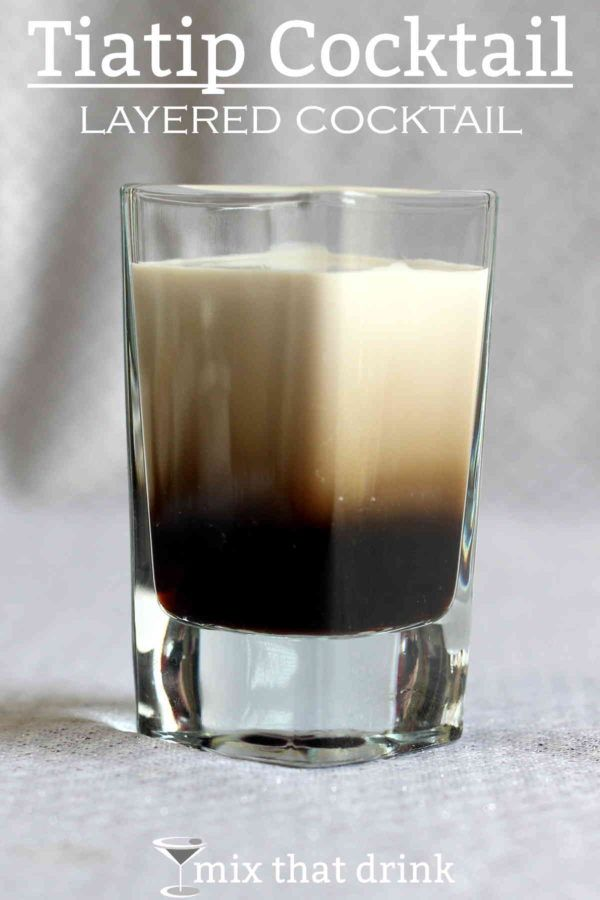 The Tiatip is a layered cocktail with just two ingredients: Tia Maria and Bailey's, in equal parts. This is a sweet, rich, delicious cocktail recipe that tastes like coffee with Irish cream and sugar.