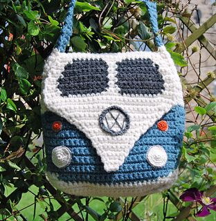 This crochet pattern is to make a Splitty Campervan Shoulder Bag approximately 30cm/12″ square. (Please note the instructions are written in UK terms but charts are included and there is just one main stitch - UK Double Crochet/US Single Crochet).