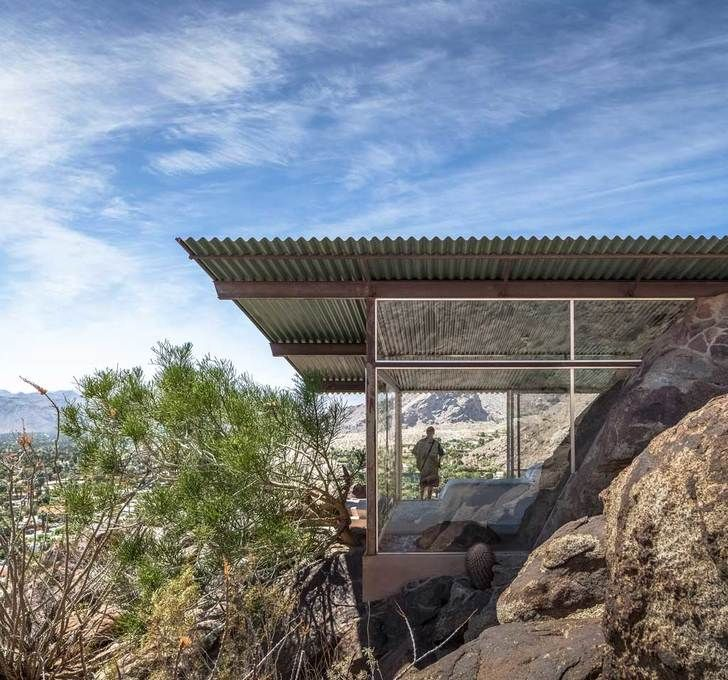 albert freys tiny palm springs house makes the desert an extension of his living room boulder tiny house front
