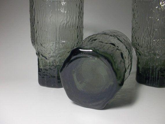 Rare Color Tapio Wirkkala Smoked Aslak Glass by RUBBEDEFFECT, $125.00
