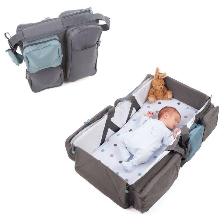 DELTA BABY Reisetasche und Babybett - Baby Travel anthrazit | babymarkt.de