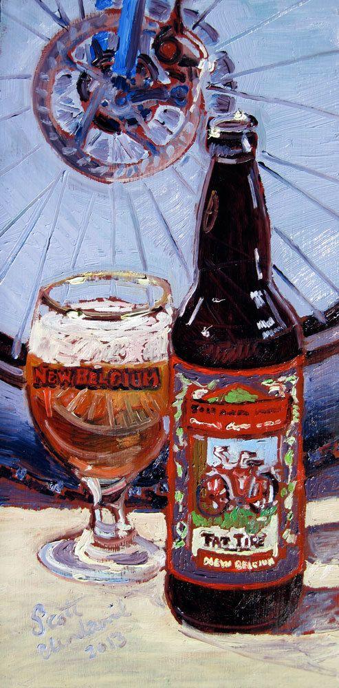 Beer Art Print of New Belgium Brewing Fat Tire, $35.00