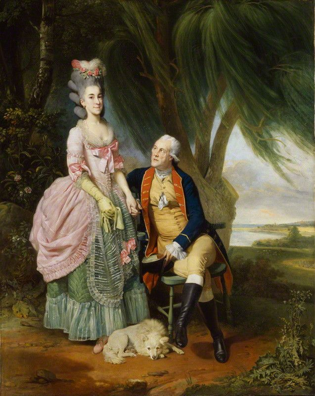 John Wilkes and his daughter Mary – by Johan Joseph Zoffany – c.1779.
