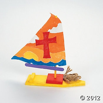 Design Your Own Wood Sailboat Kits, Design Your Own, Crafts for Kids, Craft & Hobby Supplies - Oriental Trading