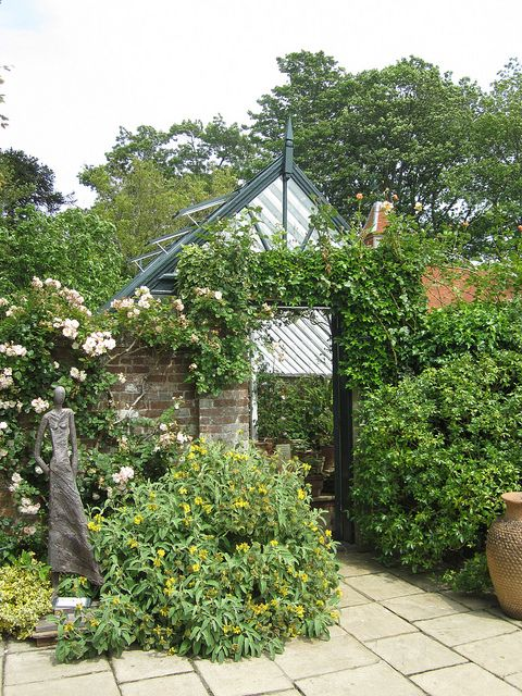 Lovely Greenhouse at Pashley Manor Garden, East Sussex, England