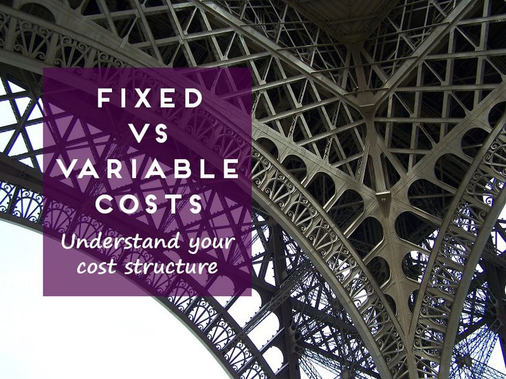 Fixed versus Variable Costs
