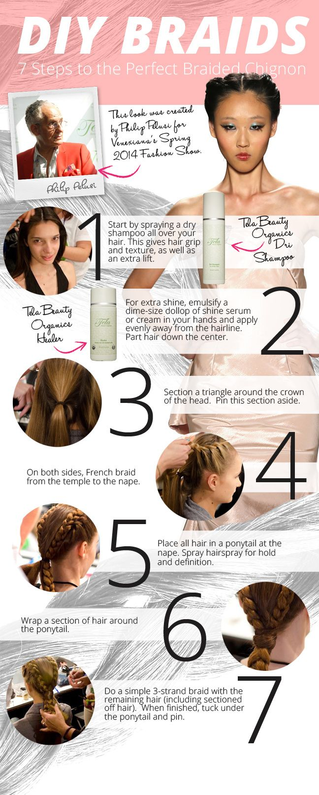 Braid How To: 7 Steps to the Perfect Braided Chignon (Infographic)