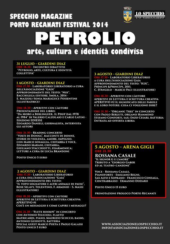 """Redazione specchiomagazine.it > Gallery - Con """"Lo Specchio Porto Recanati Festival 2014"""" l'estate entra nel vivo"""