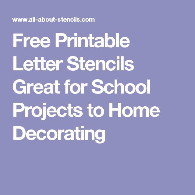 The 25 best Printable letter stencils ideas on Pinterest