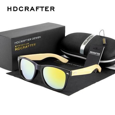 2016 Cool Fashion Mirror Glasses with Wood Frame Sunglasses for Men Brand Designer with High Quality Free Shipping - Vietees Shop Online - 1