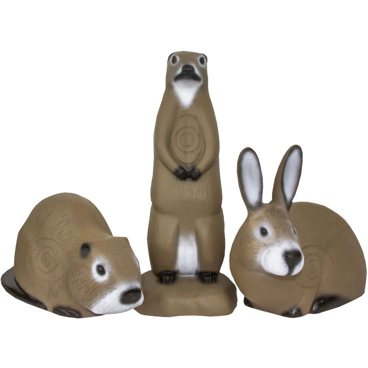 3 Target Value Pack (Muskrat, Prairie Dog, Rabbit) - Shooter 3D Targets $99.99 @ shooter3d.com