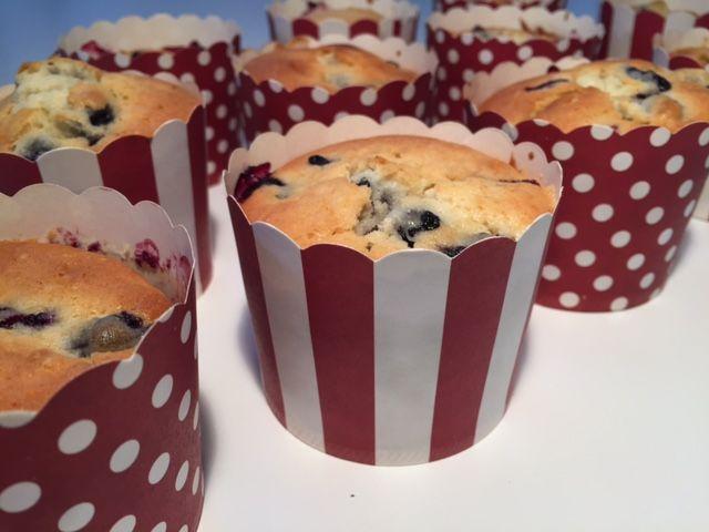 Blåbær muffins - Opskrift-kage.dk