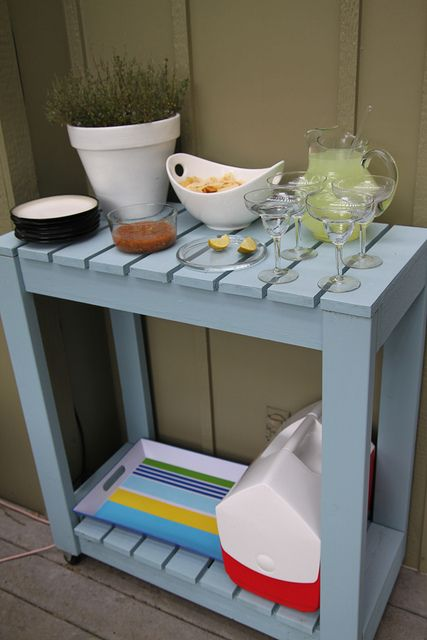 diy rolling patio cart for gardening stuff, serving table, bbq counter/prep space.... hrmm..