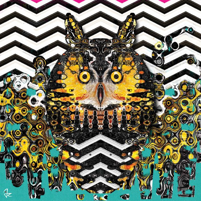 """Owl"" digital painting by Giulio Rossi https://goo.gl/rsA67T"