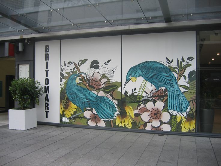 Huia mural, Britomart - Auckland