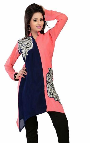 Picture of Ravishing Blue and Pink Designer Tunics