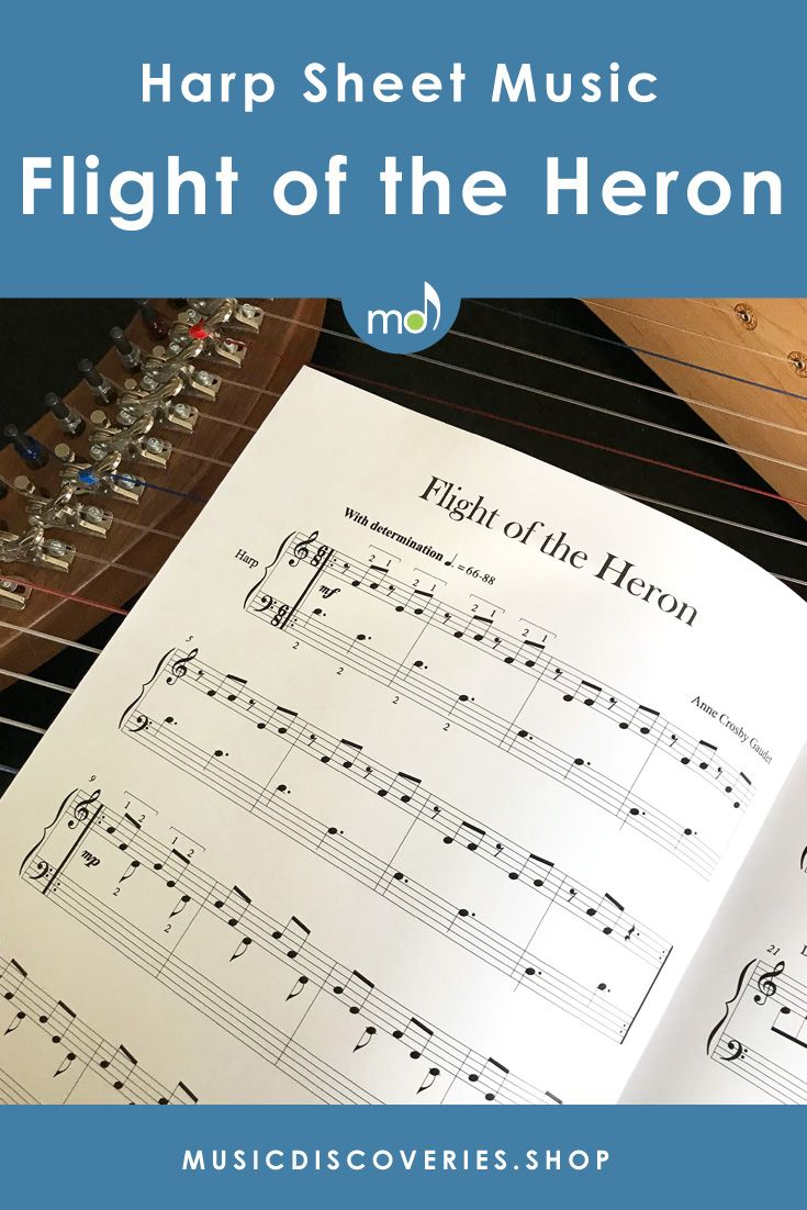 Sheet music download! Build confidence with a beautiful harp solo that sounds harder that it is. Whether you are developing two-note placing technique, memory skills or improvising, this piece plants the seeds for success. #harp #harpsheetmusic