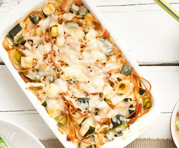Recept: Ovenschotel met spaghetti | Gezond Eten Magazine